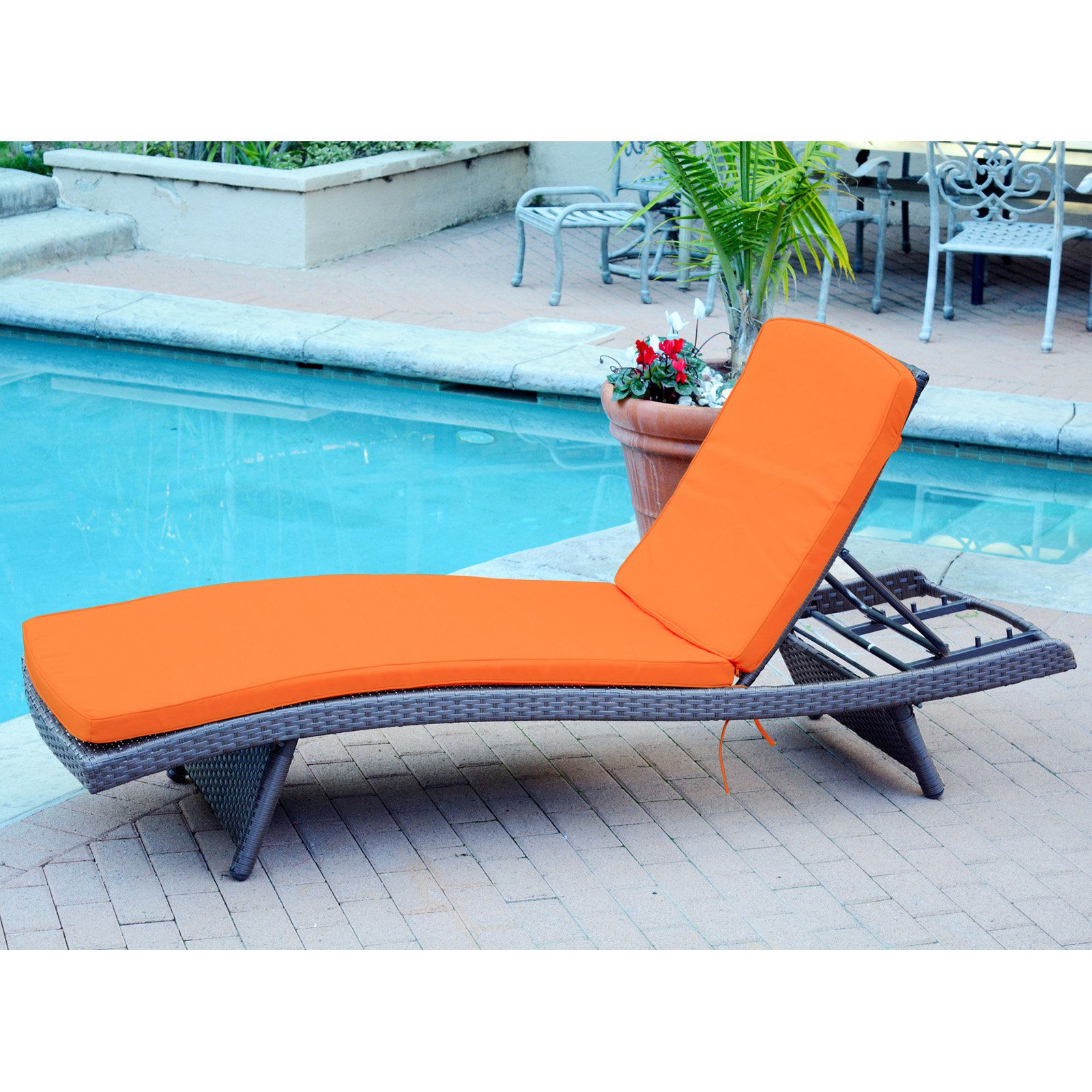 Jeco Wicker Adjustable Chaise Lounge