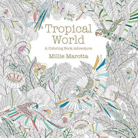 tropical world a coloring book adventure - Walmart Coloring Books
