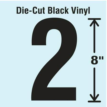 - Black Die Cut Number Label, Stranco Inc, DBV-SINGLE-8-2