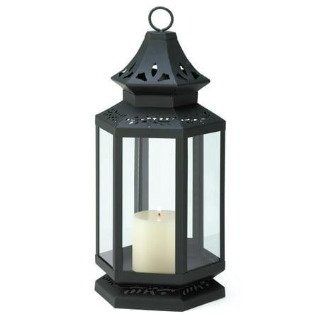 Image of Lantern Candle Holder Black, Large Stagecoach Metal Candle Lanterns Decorative