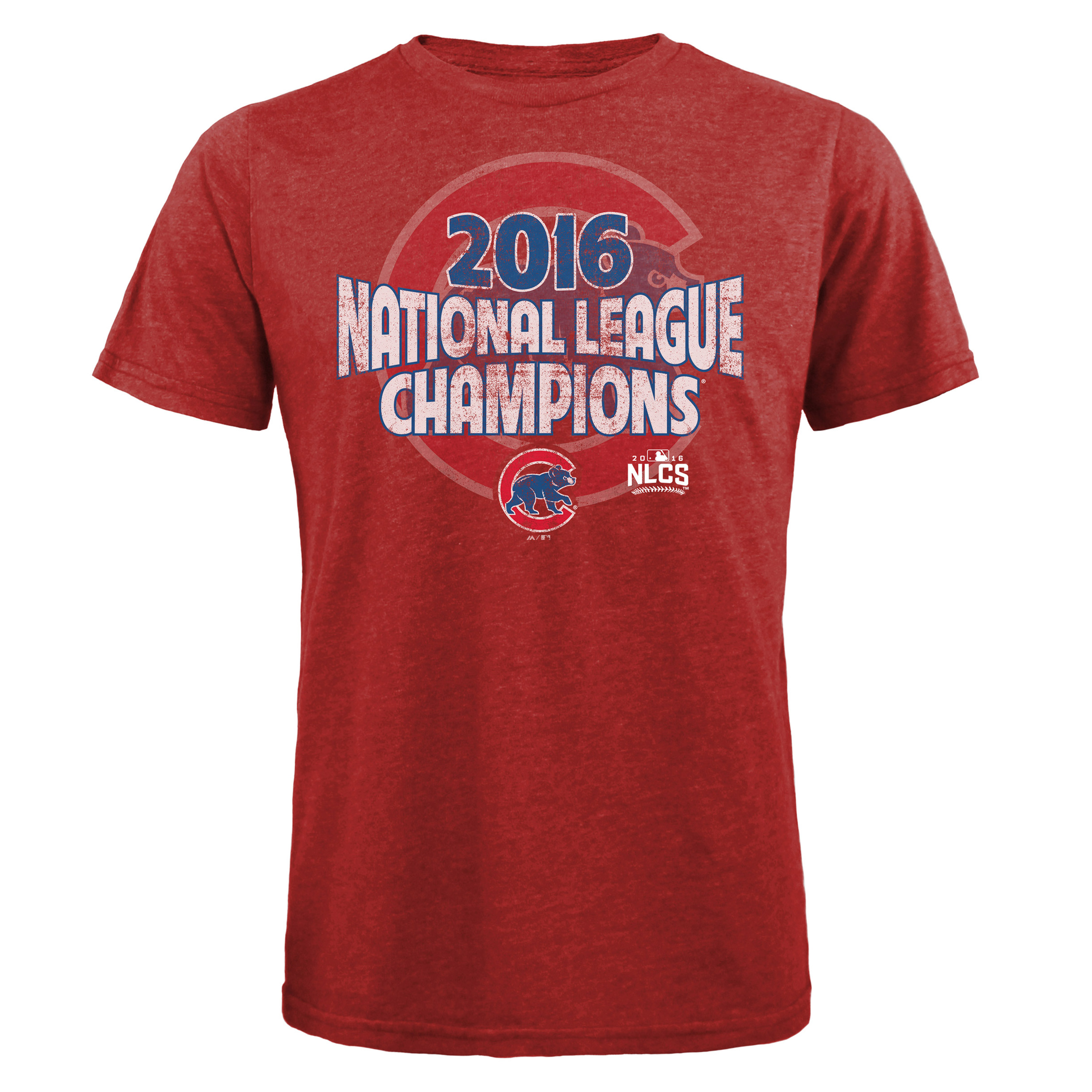 Chicago Cubs Majestic Threads 2016 National League Champions Pennant Tri-Blend T-Shirt - Red