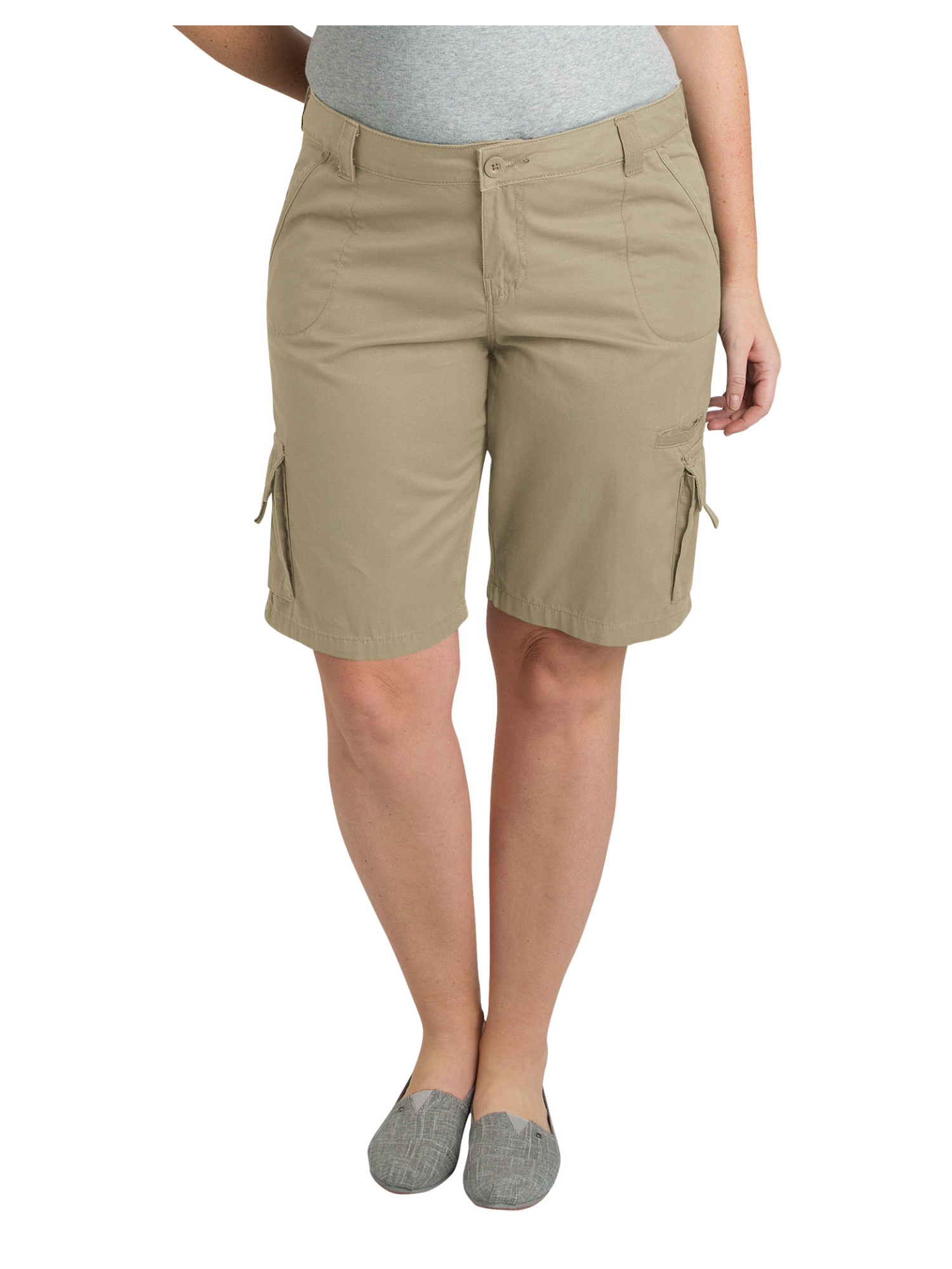 Women's Plus Size 11 inch Cotton Cargo Short- Plus size