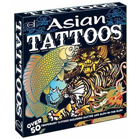 Asian Tattoos : Over 50 Temporary Tattoos Including Glitter and  Glow-In-The-Dark
