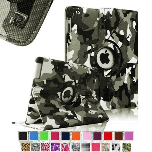 Fintie Apple iPad 2/3/4 Case - 360 Degree Rotating Stand Smart Case Cover (Auto Wake/Sleep Feature), Camouflage Black
