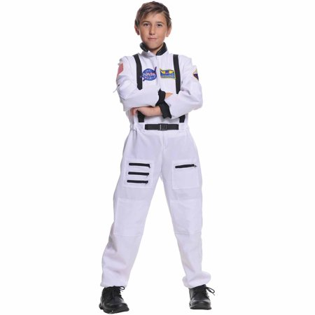White Astronaut Child Halloween Costume - Astronaut Costume With Helmet