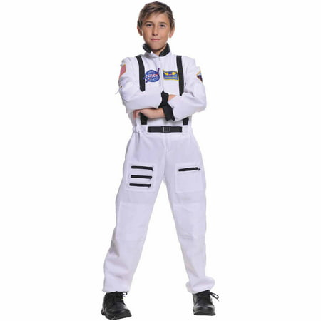 White Astronaut Child Halloween Costume](Superhero White Costume)