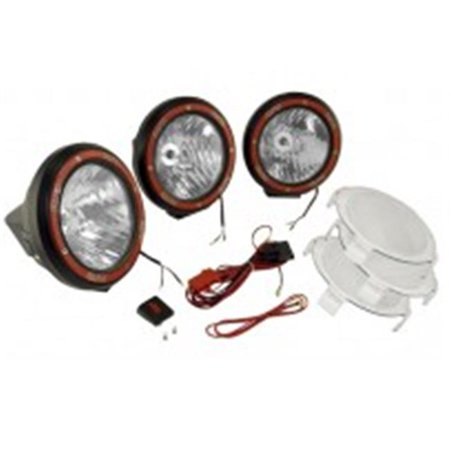 5-Inch Round HID Off Road Light Kit, Black Composite Housing - image 1 of 1