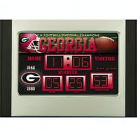 Georgia Bulldogs 6.5'' x 9'' Scoreboard Desk Clock - No Size