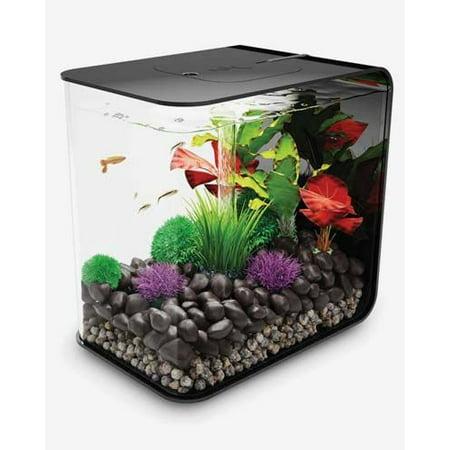 Black biorb flow 30 8 gallon aquarium with led lighting for Fish tank lights walmart