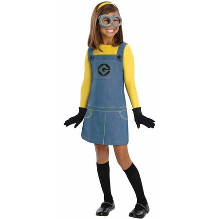 Easy Minion Costume (Despicable Me 2 Female Minion Girls' Child Halloween)