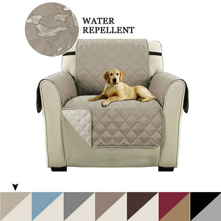 Reversible Recliner Chair Slipcover Pet Furniture Protector with Straps Recliner Covers for Large Recliner Machine Washable, Slip Cover Throw for Pets, Kids (Chair, 75