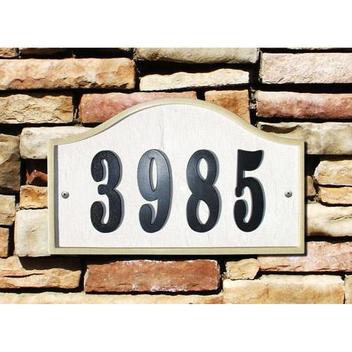 QualArc Ridgestone DIY Serpentine Stone Address Plaque by