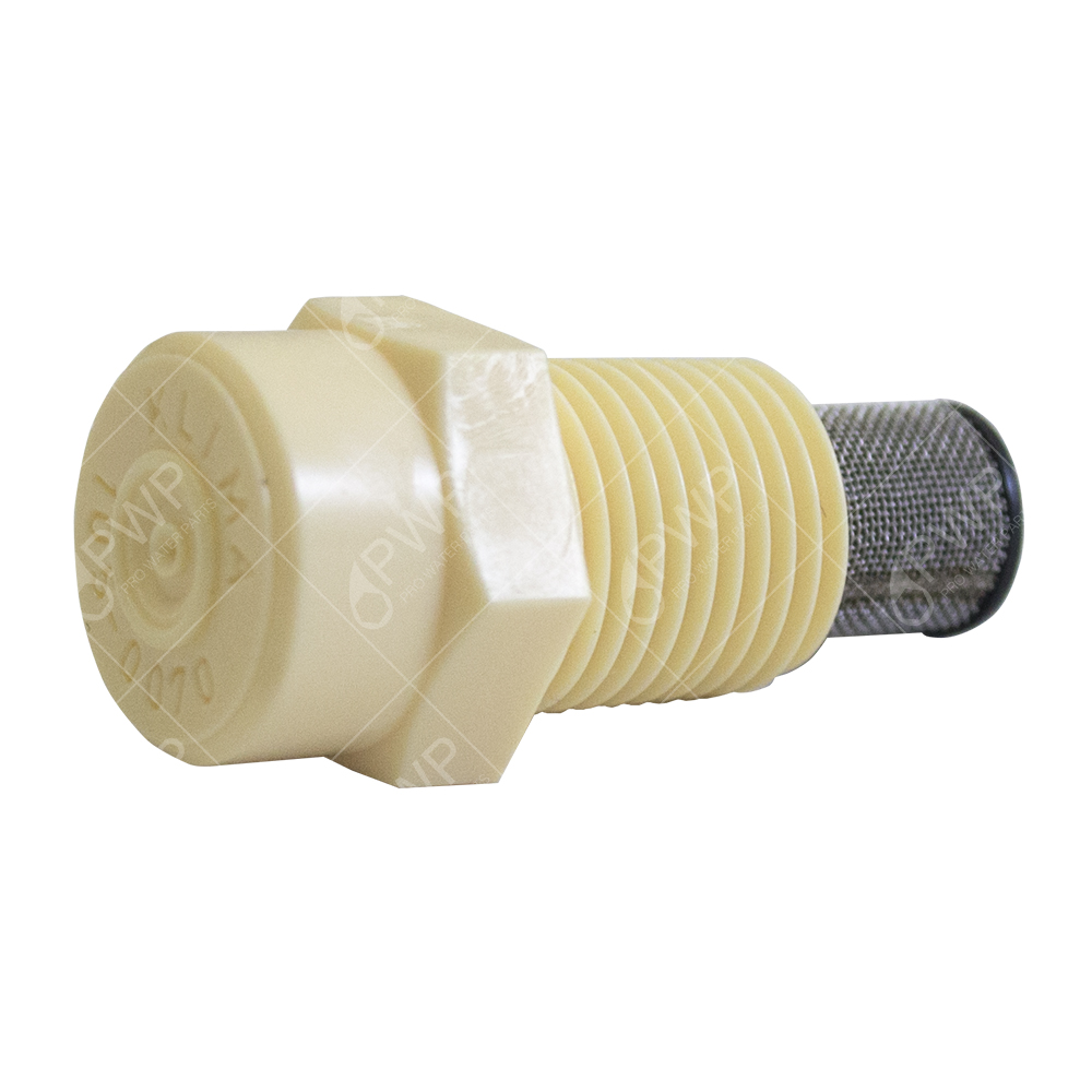 "100 Tefen Fog Nozzle W  Satinless Steel Filter Misting Poultry 1 8"" NPT 2 GPH by Misting Systems"