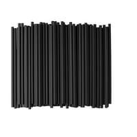Paper Wrapped Black Jumbo Plastic Straws, 250ct, 5.75in