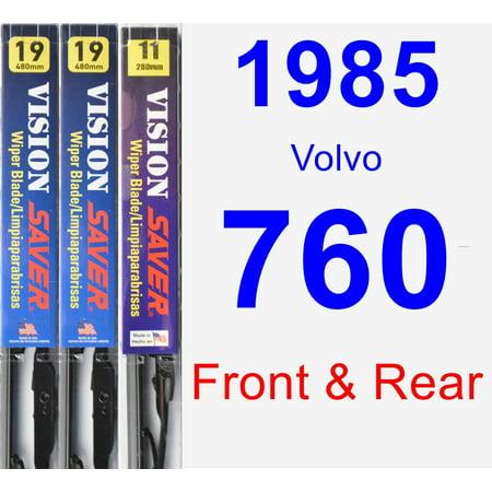 1985 Volvo 760 Wiper Blade Set/Kit (Front & Rear) (3 Blades) - Vision Saver 1985 Volvo 760 A/c