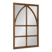 Kate And Laurel Hogan Modern Wood Framed Rectangular Wall Mirror With Arch Overlay Detail Rustic