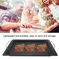 EOTVIA Barbecue Pan,  Barbecue Frying Pan,Stainless Steel Non-sticky Barbecue Pan Frying Pot Grilling Plate Cookware