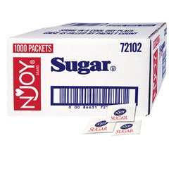 1000 PACKS : Sugar Packets, Box Of 1000