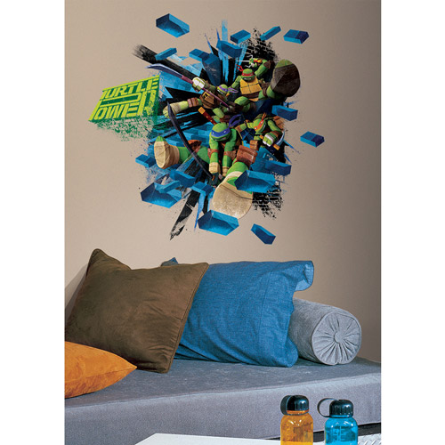 Teenage Mutant Ninja Turtles Brick Poster Peel and Stick Giant Wall Decal