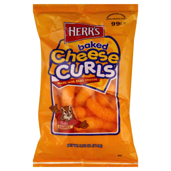 Herr's Baked Cheese Curls 1 oz Bags - Pack of 42