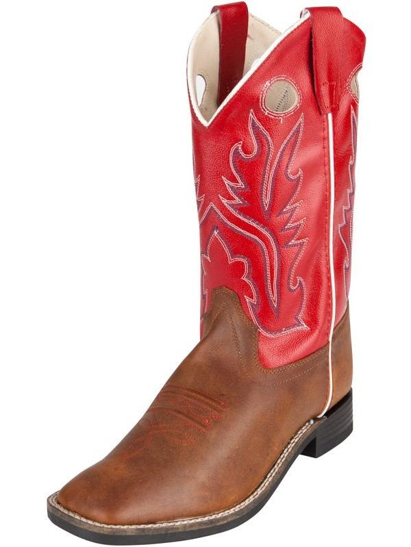 Old West Jama Corporation Boys Kid s Caramel Cowboy Boots