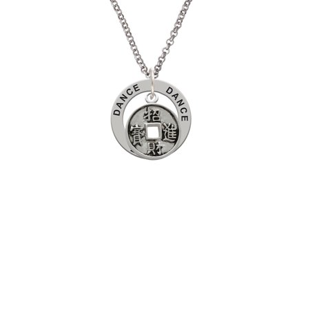 Chinese Coin Dance Affirmation Ring Necklace - Chinese Coins Value
