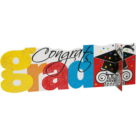 Congrats Graduation Centerpiece Decoration, 14 x 4.5 in, 1ct - College Graduation Centerpieces