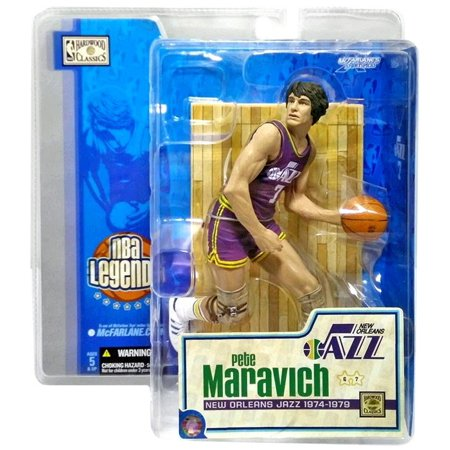 McFarlane NBA Sports Picks Legends Series 1 Pete Maravich Action Figure [Purple Jersey] Pete Maravich Jerseys