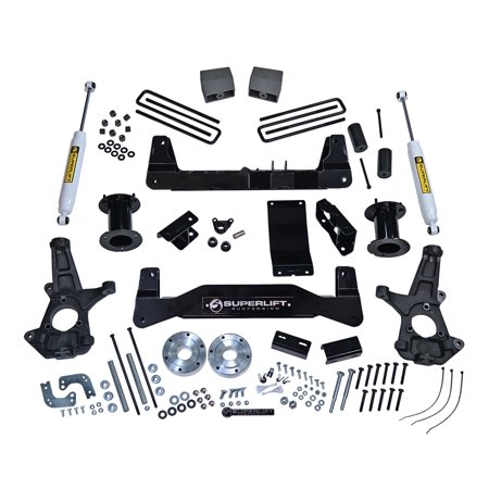 SuperLift 6.5 inch Lift Kit - 2014-2016 Chevy Silverado and GMC Sierra 1500 4WD with Cast Steel Control Arms - with Superide Rear (73 87 Chevy 4 Inch Lift Kit)