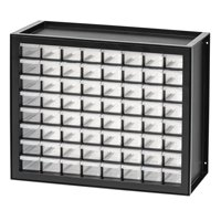 IRIS 64 Drawer Parts Cabinet, Black