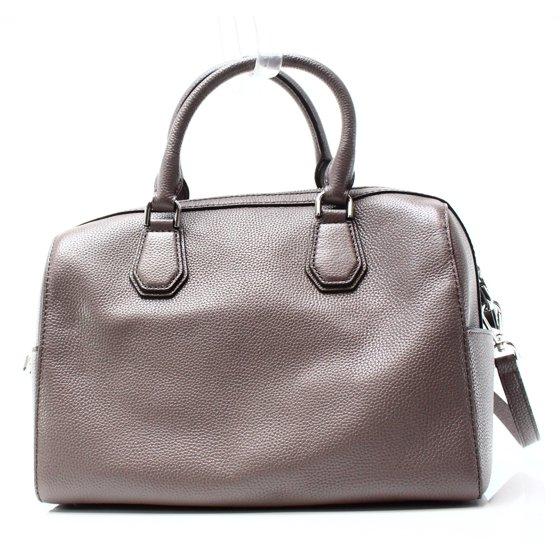 0604a6a4b8d26f Michael Kors - NEW Gray Cinder Pebble Leather Mercer Satchel Bag ...
