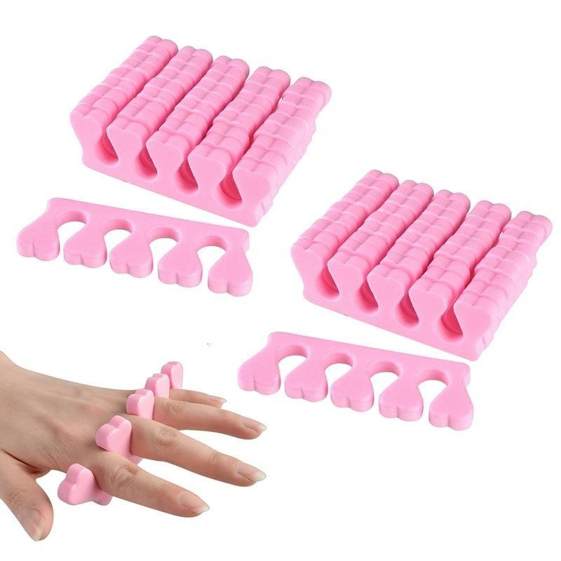Zodaca 20x Salon Toe Finger Separators Manicure Pedicure 10 Pairs Soft Foam Nail Polish