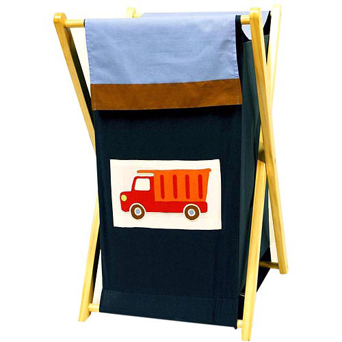 Bacati Transportation Hamper with Cotton Percale cover, mesh liner and Natural Color Wooden frame by Generic