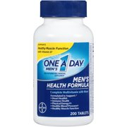 One A Day Men's Health Formula Multivitamin Tablets, 200 ct