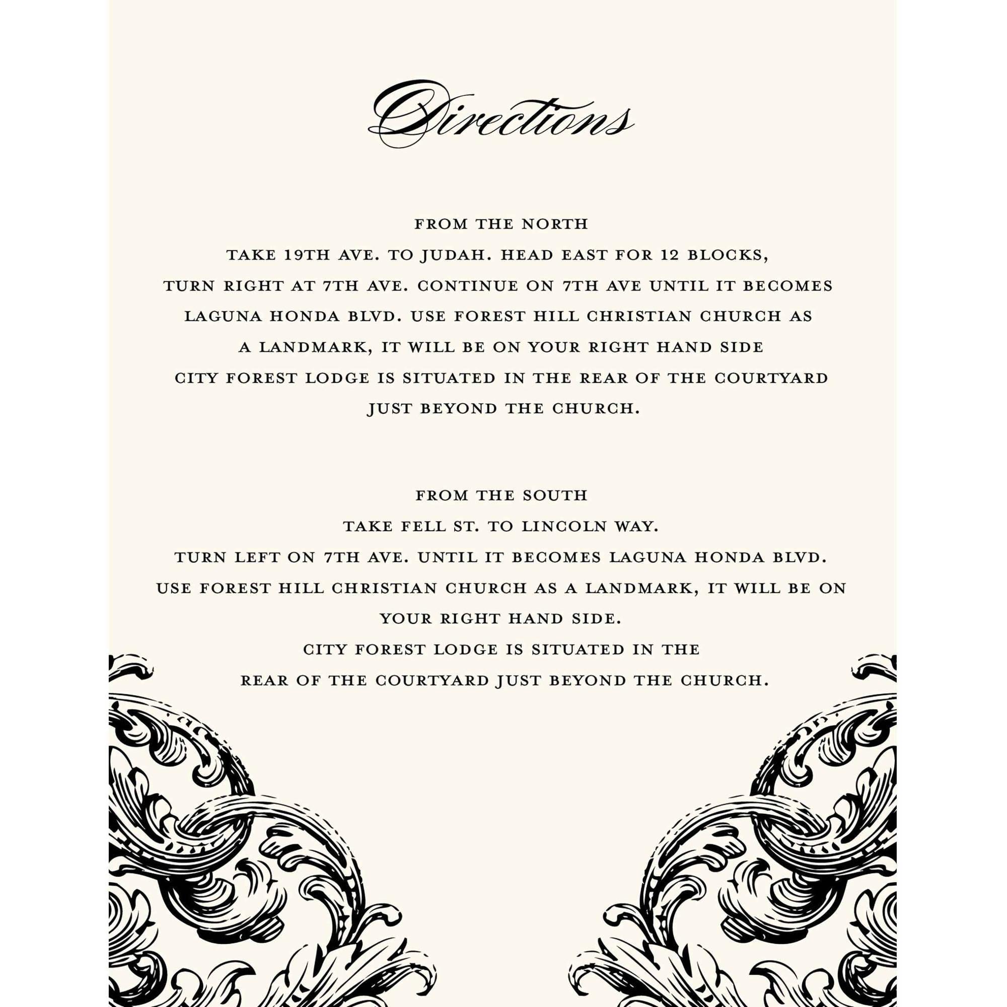 Romantic Scroll Deluxe All Purpose Card