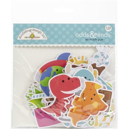 Doodlebug Odds & Ends Die-Cuts 113/Pkg-So Much Pun
