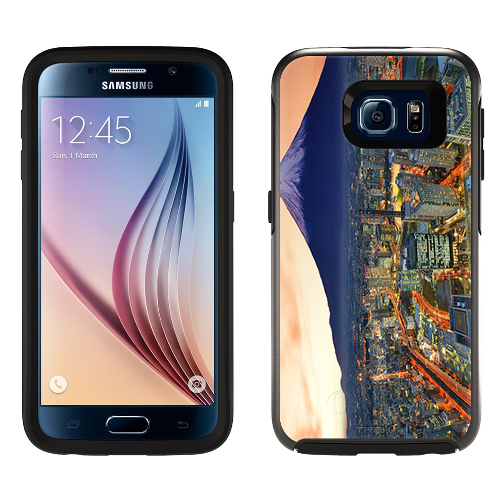 SKIN DECAL FOR OtterBox Symmetry Samsung Galaxy S6 Case - Yokohama and Fuji DECAL, NOT A CASE