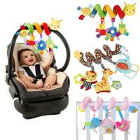 Baby Crib Cot Pram Hanging Rattles Spiral Stroller&Car Seat Toy with Ringing Bell
