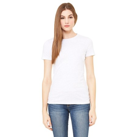 Branded Bella + Canvas Ladies The Favorite T-Shirt - WHITE - L (Instant Saving 5% & more on min 2)