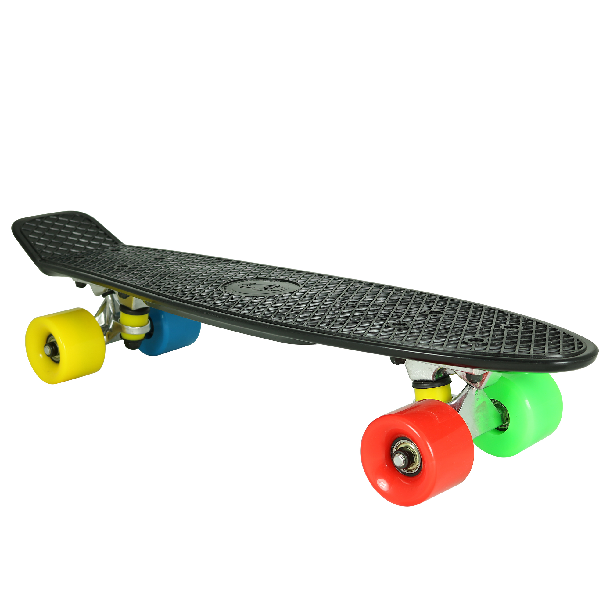 Street Rebel 22.5 in. Retro Penny-Style Skateboard, Glow-In-The-Dark Green by Street Rebel