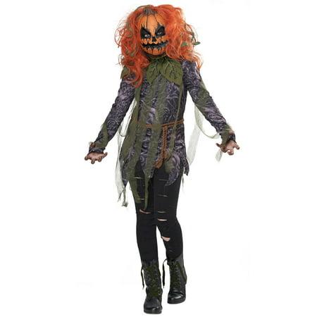Kids Pumpkin Costumes (Pumpkin Monster Girl Child)