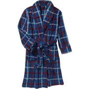 Mens Wrangler Printed Cozy Plush Robe, NAVY, Small/Medium