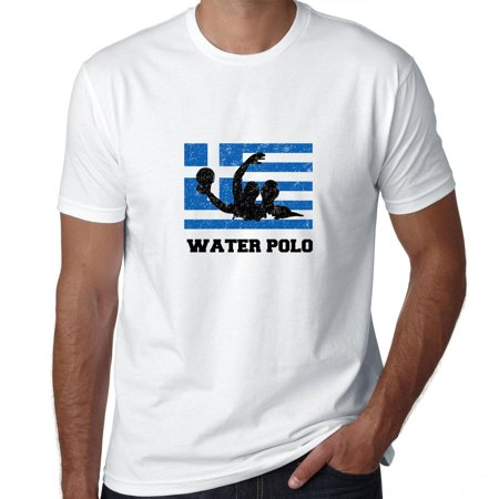 Greece Olympic - Water Polo - Flag - Silhouette Men's T-Shirt