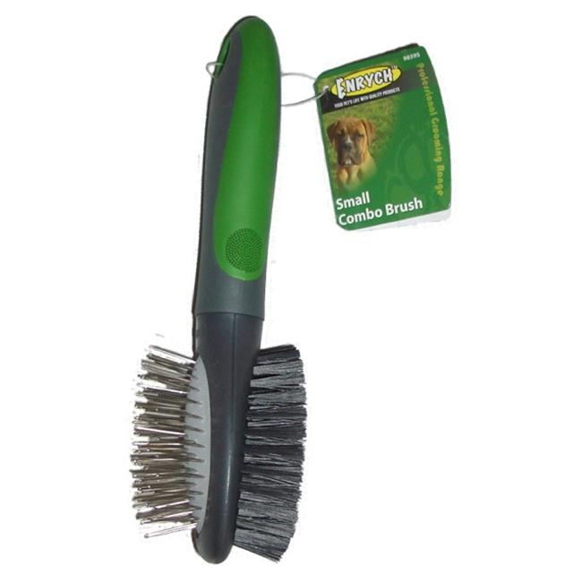 Enrych Pet Combination Brush, Small, Green/Gray Series