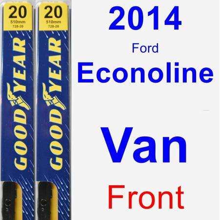 2014 Ford Econoline Van Wiper Blade Set/Kit (Front) (2 Blades) - Premium