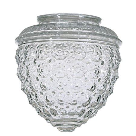 Clear Pineapple Glass Shade - 3-1/4-Inch Fitter Opening By Satco Lighting Ship from US