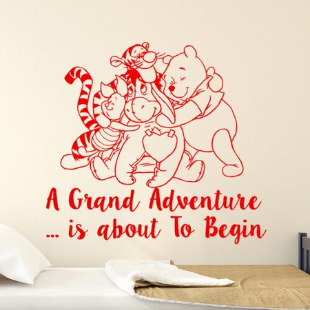 Decal House Clic Winnie The Pooh Nursery Bedroom Wall