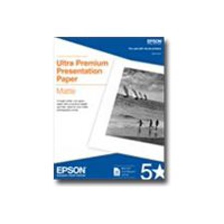 Epson Ultra Premium - Matte - 10.3 mil - bright white - Letter A Size (8.5 in x 11 in) - 192 g/m² - 50 sheet(s) presentation paper - for EcoTank ET-3600; Expression ET-3600; Expression Home XP-434;