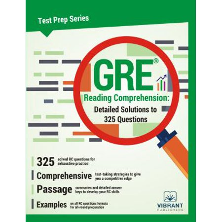 GRE Reading Comprehension: Detailed Solutions to 325 Questions - eBook