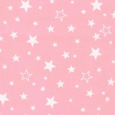 Robert Kaufman Cozy Cotton Flannel Pink Starry Skies